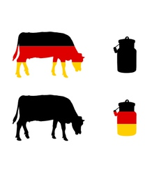 German milk cow vector image