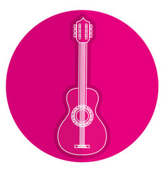 Guitar instrument isolated icon vector