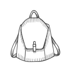 hand drawn backpack vector image