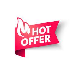 hot sale price offer banner hot deal label vector image