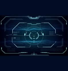hud futuristic screen interface target aim control vector image