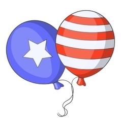 Independence day balloons icon cartoon style vector image