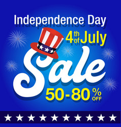independence day of united states of america sale vector image