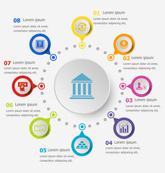 infographic template with banking icons vector image