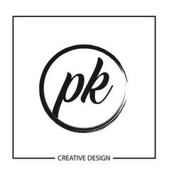 Initial letter pk logo template design vector