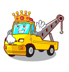 King tow truck for vehicle branding character vector