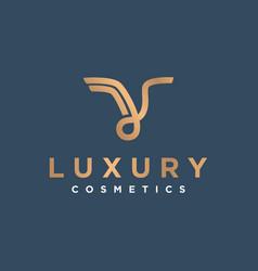 Luxury logo abstract simple minimalist icon vector