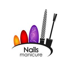 Manicure design vector