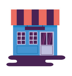 market store commerce facade vector image