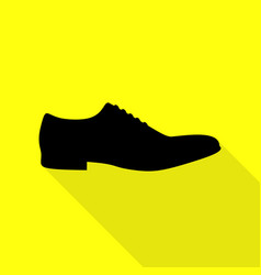 Men shoes sign black icon with flat style shadow vector