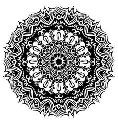 monochrome mandala vector image