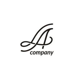 monogram initials la beauty lettering logo design vector image