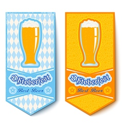 oktoberfest 2016 glass mug beer vector image