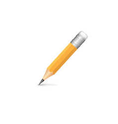 pencil isolated on white background art creation vector image
