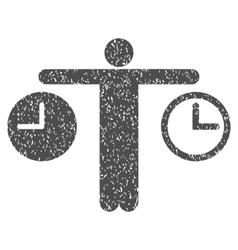 Person compare time grainy texture icon vector