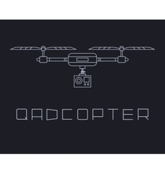quadrocopter dron with action camera icon simple vector image