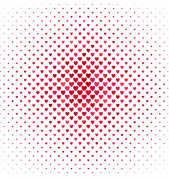 Repeating red heart background pattern vector