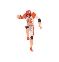 Rugby player male athlete character in sports vector