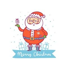 Santa Claus christmas greetings vector image