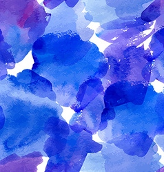 Seamless pattern with blue watercolor stains vector image