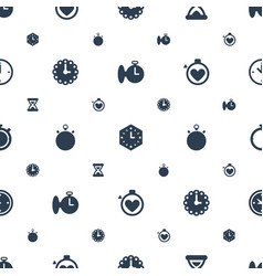 second icons pattern seamless white background vector image