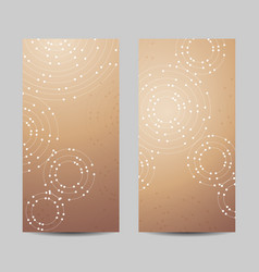 Set of vertical banners geometric pattern with vector