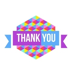 sign Thank You geometric background vector image