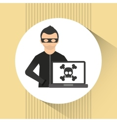 software infections design vector image