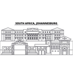South africa johannesburg line skyline vector