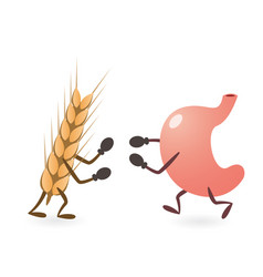 Stomach and gluten source grain fighting vector