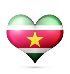 Suriname Heart flag icon vector image