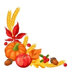 Thanksgiving Day or autumn frame Decorative vector image