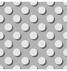 Tile grey pattern or background with big polka dot vector