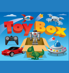 Toy box for advertising vector