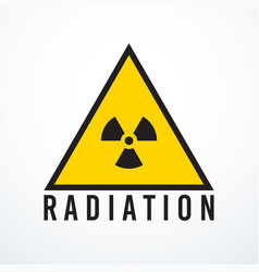 Triangle radiation sign isolated vector