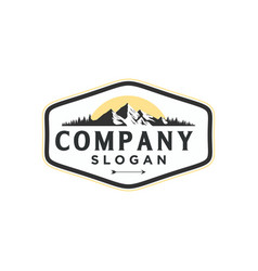 Vintage mountain logo vector
