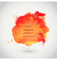 Watercolor texture Orange grunge paper template vector