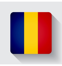 Web button with flag of Romania vector