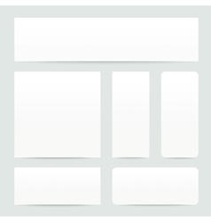 White Paper Banner set vector image