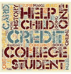 Why Your College Student Should Have A Credit Card vector