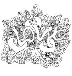 zentangl the word Love in vector image vector image