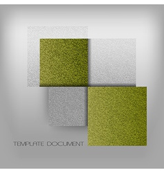 business four squares green with text grain vector image