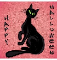 Black cat halloween holiday vector image vector image