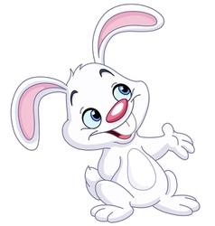 bunny presenting vector image vector image