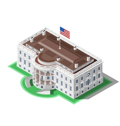 Election Infographic Us White House Isometric vector image vector image