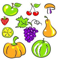 fruits vegetables berries vector image vector image