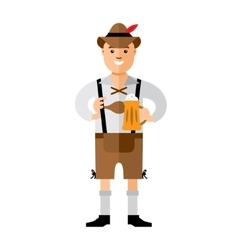 German with Beer Flat style colorful vector image