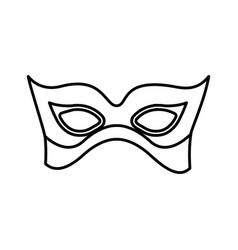 monochrome silhouette with elegant venetian mask vector image