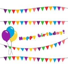 Set happy birthday garland vector image