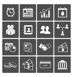 Time and Money Icons Set vector image vector image